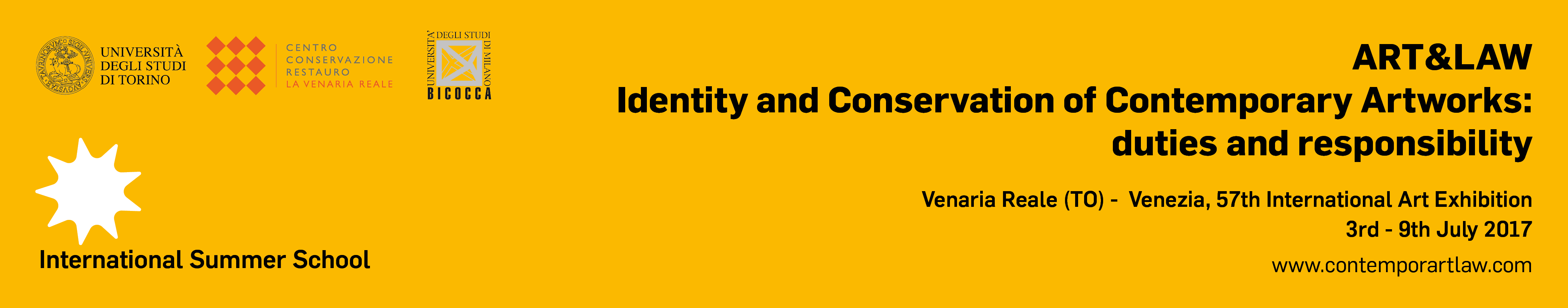 Banner sito - giallo scritte nere con link